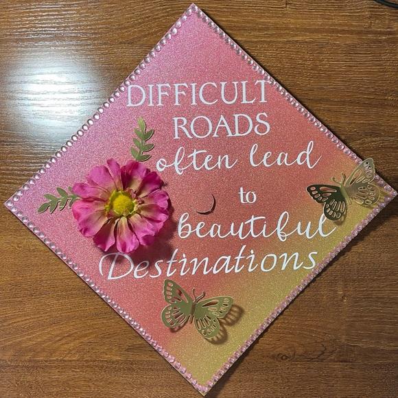 Handmade Graduation Cap Topper Destinations